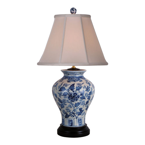 Porcelain Ware Blue and White 26-Inch One-Light Table Lamp