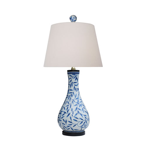 East Enterprise Porcelain Ware Blue and White 24-Inch One-Light Table Lamp