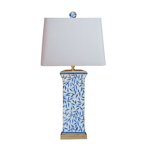 East Enterprise Porcelain Ware Blue and White 28-Inch One-Light Table Lamp