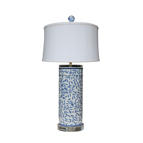 East Enterprise Porcelain Ware Blue and White 29-Inch One-Light Table Lamp