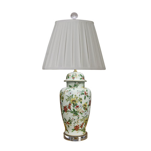 East Enterprise Porcelain Ware Blue and White 31-Inch One-Light Table Lamp