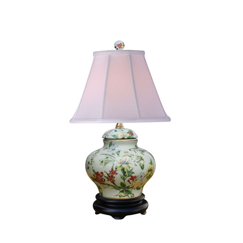 East Enterprise Porcelain Ware Blue and White 16-Inch One-Light Table Lamp