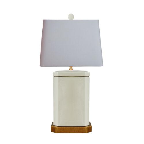 East Enterprise Porcelain Creamy Celadon One-Light Table Lamp