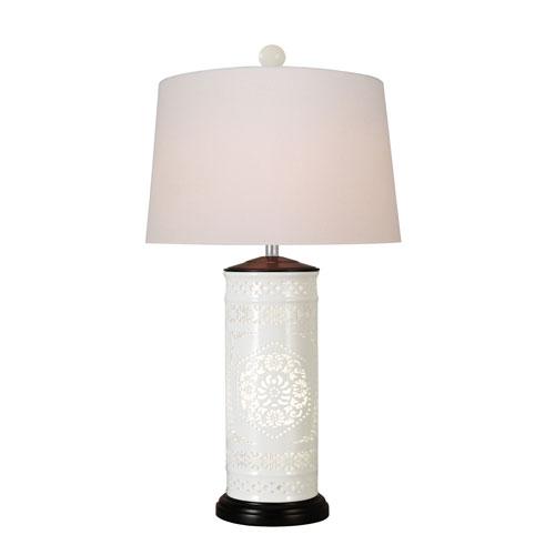 East Enterprise Porcelain White 27-Inch One-Light Table Lamp