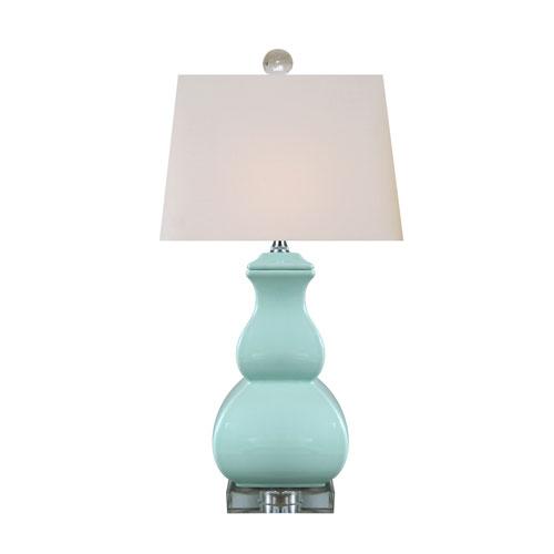 East Enterprise Porcelain Spa Blue 22-Inch One-Light Table Lamp