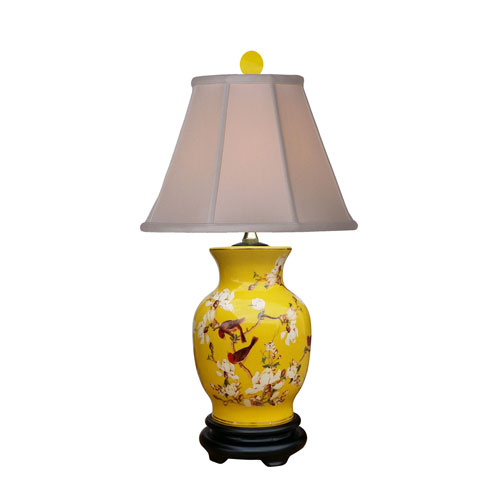 Porcelain Yellow 22-Inch One-Light Table Lamp