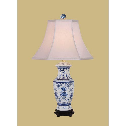 Blue and White 26-Inch Vase Table Lamp