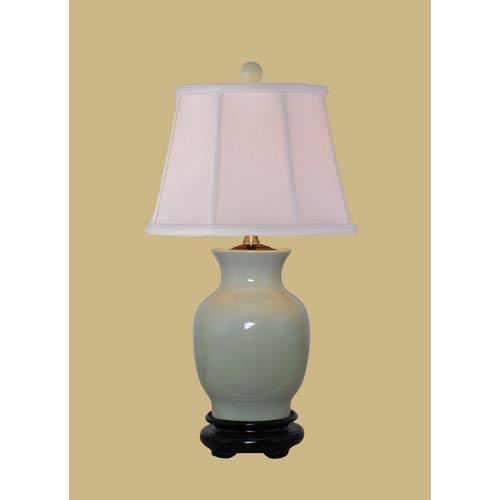 East Enterprise Light Green 20.5-Inch Crackled Vase Table Lamp