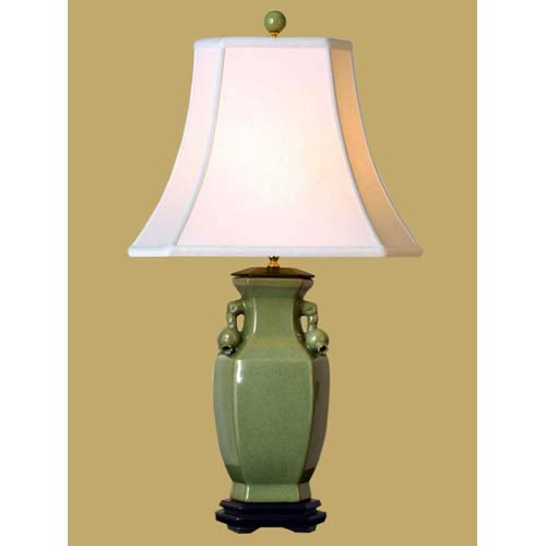 East Enterprise Celadon Vase Table Lamp