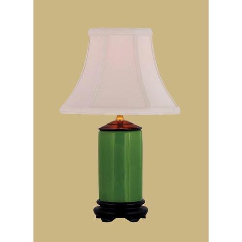 Porcelain Ware One-Light Apple Green Mini Lamp