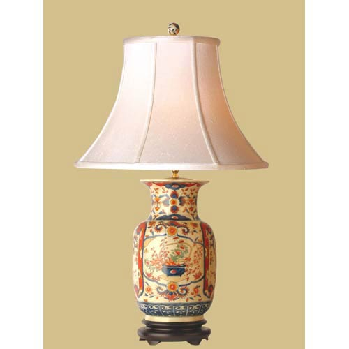 Multi colored table lamps free shipping bellacor imari vase table lamp aloadofball Gallery