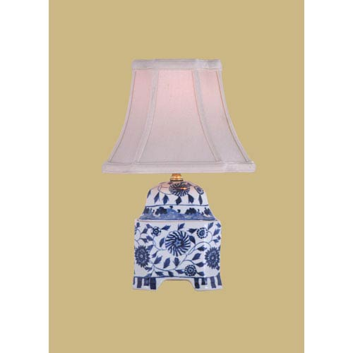 East Enterprise Porcelain Ware One-Light Blue and White Jar Lamp