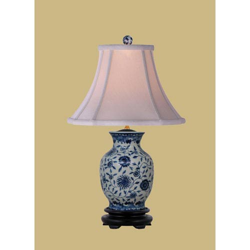 Gentil East Enterprise Blue And White One Light English Porcelain Table Lamp