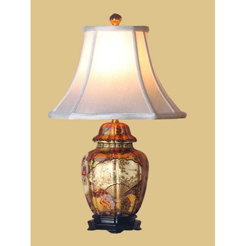 Multi colored table lamps free shipping bellacor satsuma jar table lamp aloadofball Gallery