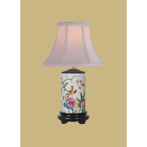 Porcelain Ware One-Light Multicolor Small Lamp