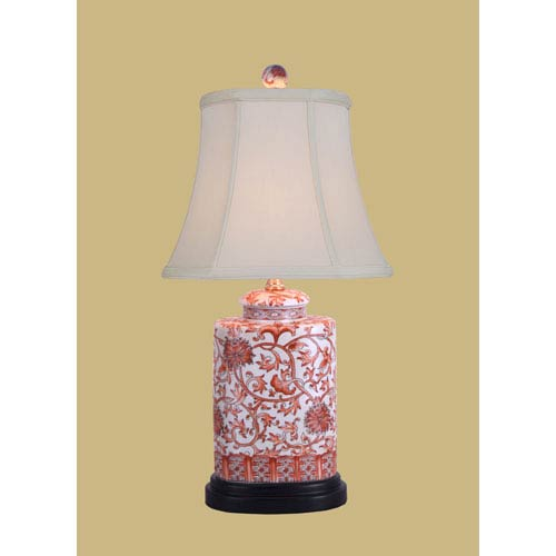 White 21-Inch Jar Table Lamp
