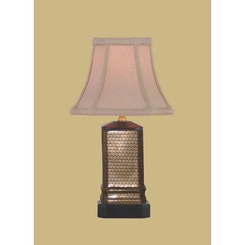 East Enterprise Porcelain Ware One-Light Small Gold Lamp