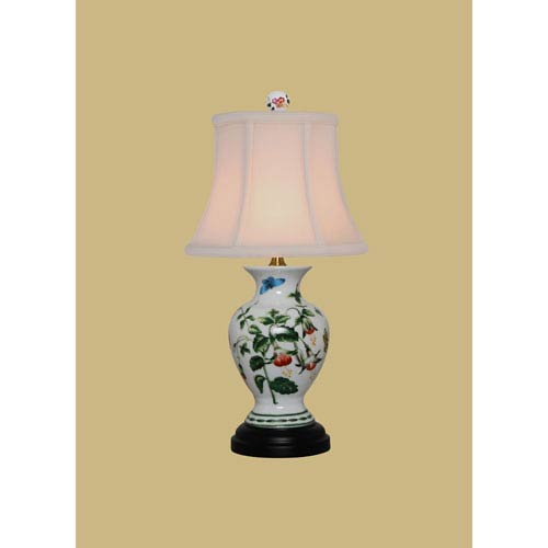 Porcelain Ware One-Light Multicolor Small Jar Lamp