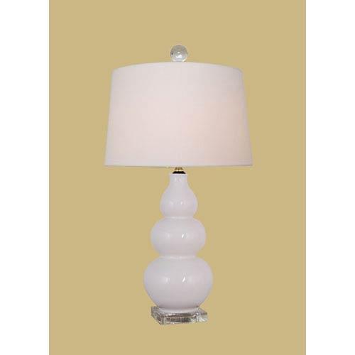 East Enterprise White 22-Inch Gourd Table Lamp