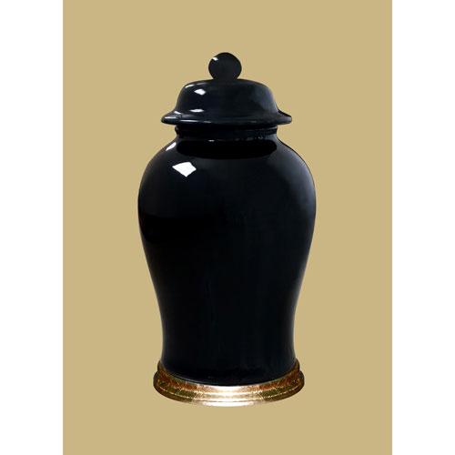 Black Porcelain Jar