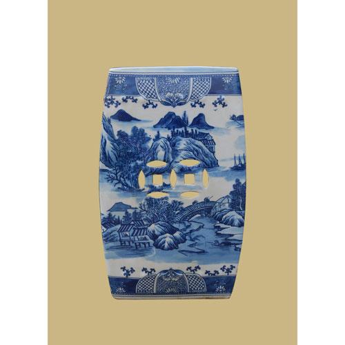 Blue and White Porcelain  Garden Stool