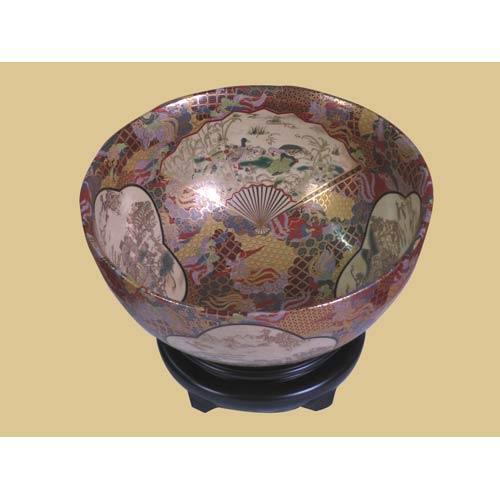 Satsuma Gold Bowl with Base