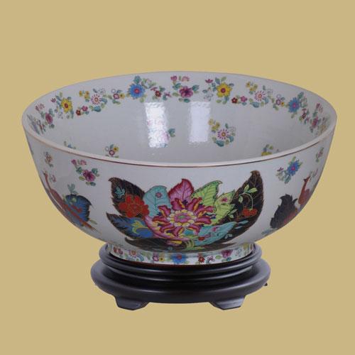 East Enterprise Multicolor Porcelain Bowl