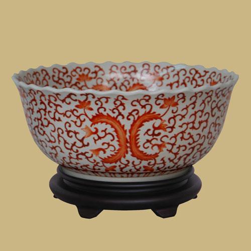 East Enterprise Orange Porcelain Bowl