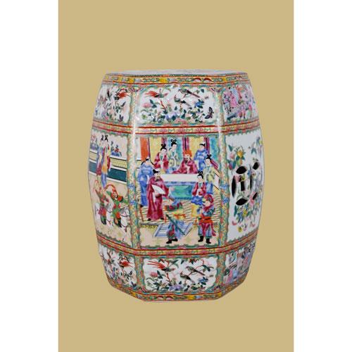 Multicolor Porcelain  Garden Stool