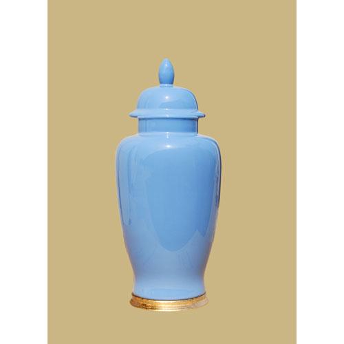 Summer Blue Porcelain Jar