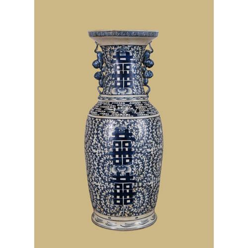 East Enterprise Blue and White Porcelain Vase