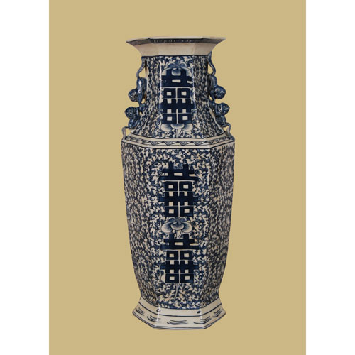East Enterprise Blue and White Porcelain Vase