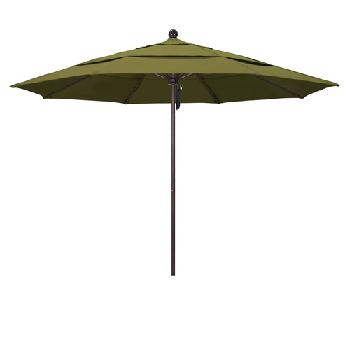 California Umbrella 11 Foot Umbrella Fiberglass Market Pulley Open Double Vent Bronze/Pacifica/Palm