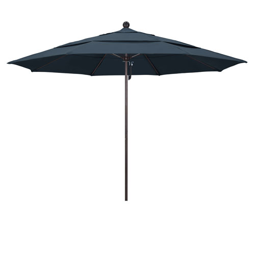 California Umbrella 11 Foot Umbrella Fiberglass Market Pulley Open Double Vent Bronze/Pacifica/Sapphire