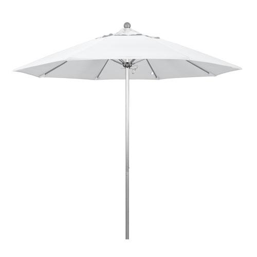 9 Foot Umbrella Fiberglass Market Pulley Open Anodized/Pacifica/Natural