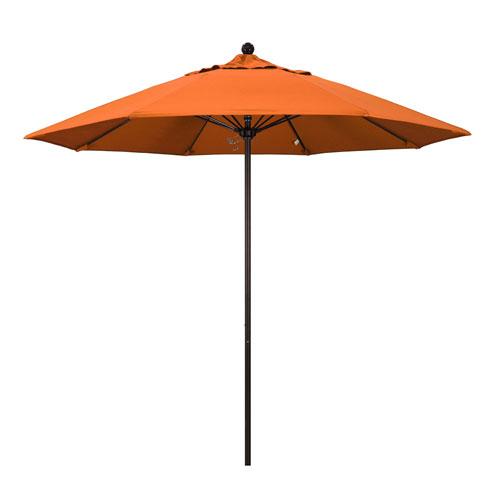 California Umbrella 9 Foot Umbrella Fiberglass Market Pulley Open Bronze/Sunbrella/Tuscan