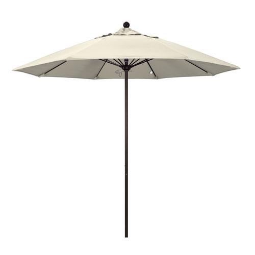 9 Foot Umbrella Fiberglass Market Pulley Open Bronze/Olefin/Antique Beige