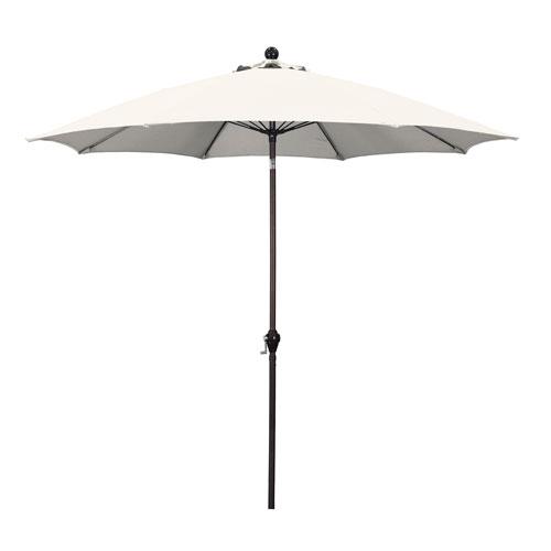 9 Foot Umbrella Wr Fiber Market Push Tilt Bronze/Polyester/Natural