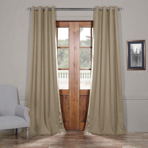 Classic Beige 108 x 50 In. Grommet Blackout Curtain Panel Set