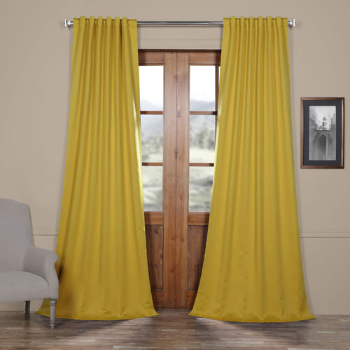 Rose Street Solar Yellow 108 x 50 In. Blackout Curtain Panel Pair