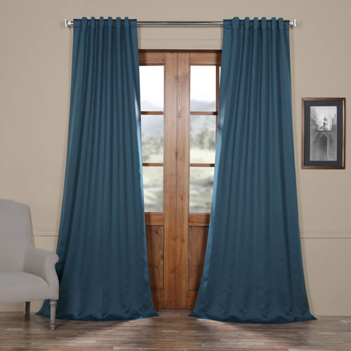 Rose Street Royal Blue 84 x 50 In. Blackout Curtain Panel Pair