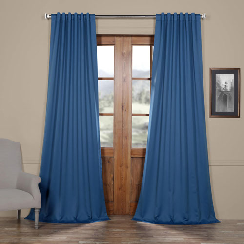 Rose Street Ocean Blue 108 x 50 In. Blackout Curtain Panel Pair