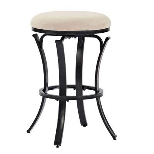 Admirable Hedley Swivel Counter Stool In Black Gold With Tan Cushion Unemploymentrelief Wooden Chair Designs For Living Room Unemploymentrelieforg