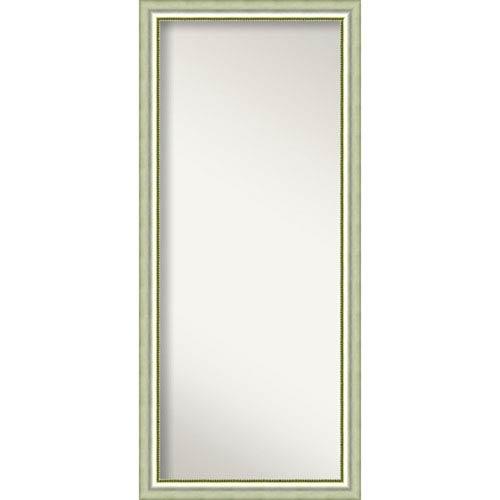 Vegas Burnished Silver Wood: 29 x 65-Inch Floor Mirror