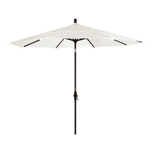 11 Foot Umbrella Aluminum Market Collar Tilt Double Vent Bronze/Sunbrella/Canvas