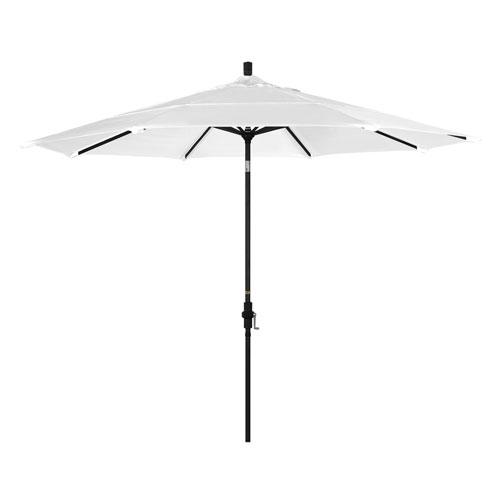 11 Foot Umbrella Aluminum Market Collar Tilt Double Vent Matted Black/Pacifica/Natural
