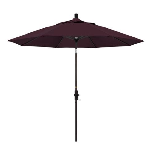9 Foot Umbrella Aluminum Market Collar Tilt - Bronze/Pacifica/Purple