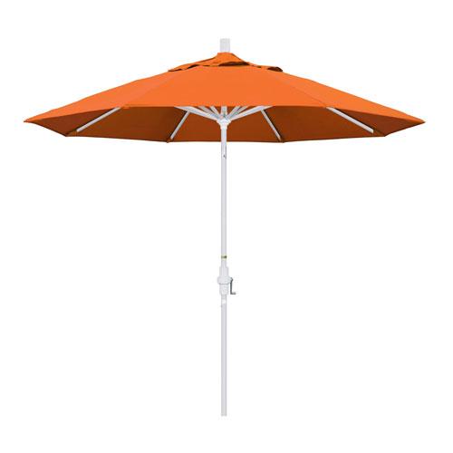 California Umbrella 9 Foot Umbrella Aluminum Market Collar Tilt - Matted White/Sunbrella/Tuscan