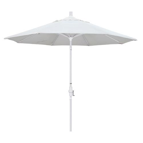 California Umbrella 9 Foot Umbrella Aluminum Market Collar Tilt - Matted White/Olefin/White