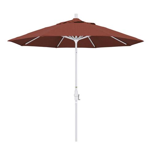 9 Foot Umbrella Aluminum Market Collar Tilt - Matted White/Olefin/Terracotta
